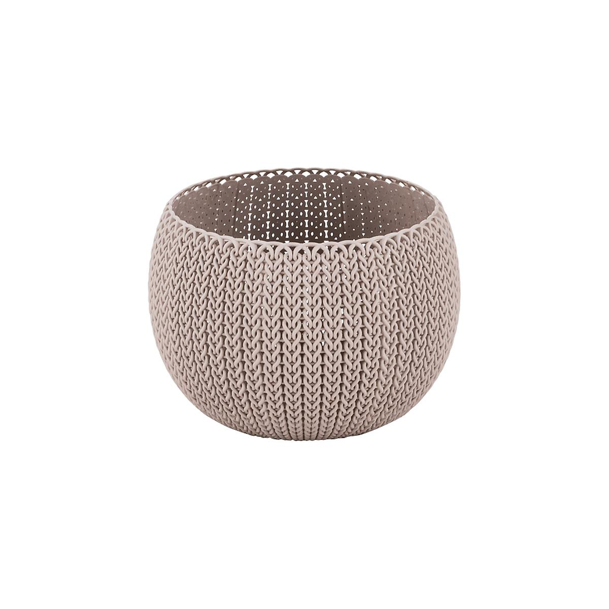 Curver Sand Knit Storage Baskets: Curver Small Sand Knit Storage Bowl
