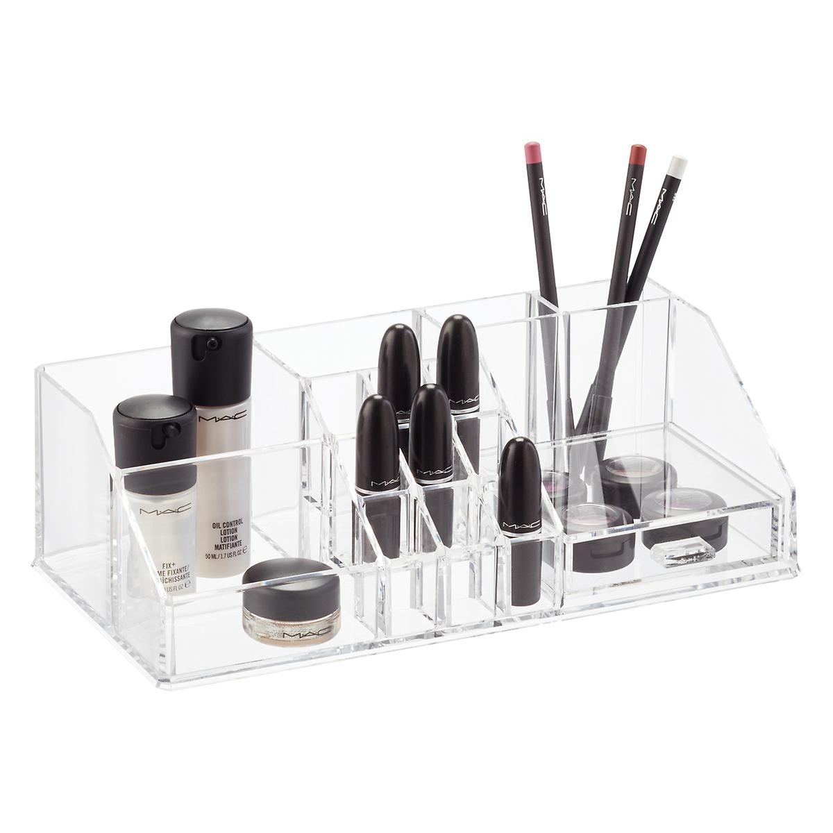 Acrylic Cosmetic Organizer With Drawer The Container Store