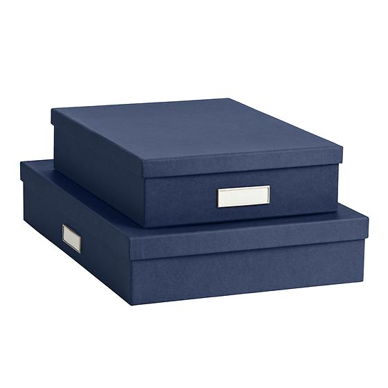 Bigso Navy Stockholm Office Storage Boxes