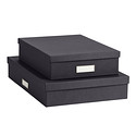 Bigso Classic Graphite Stockholm Office Storage Boxes