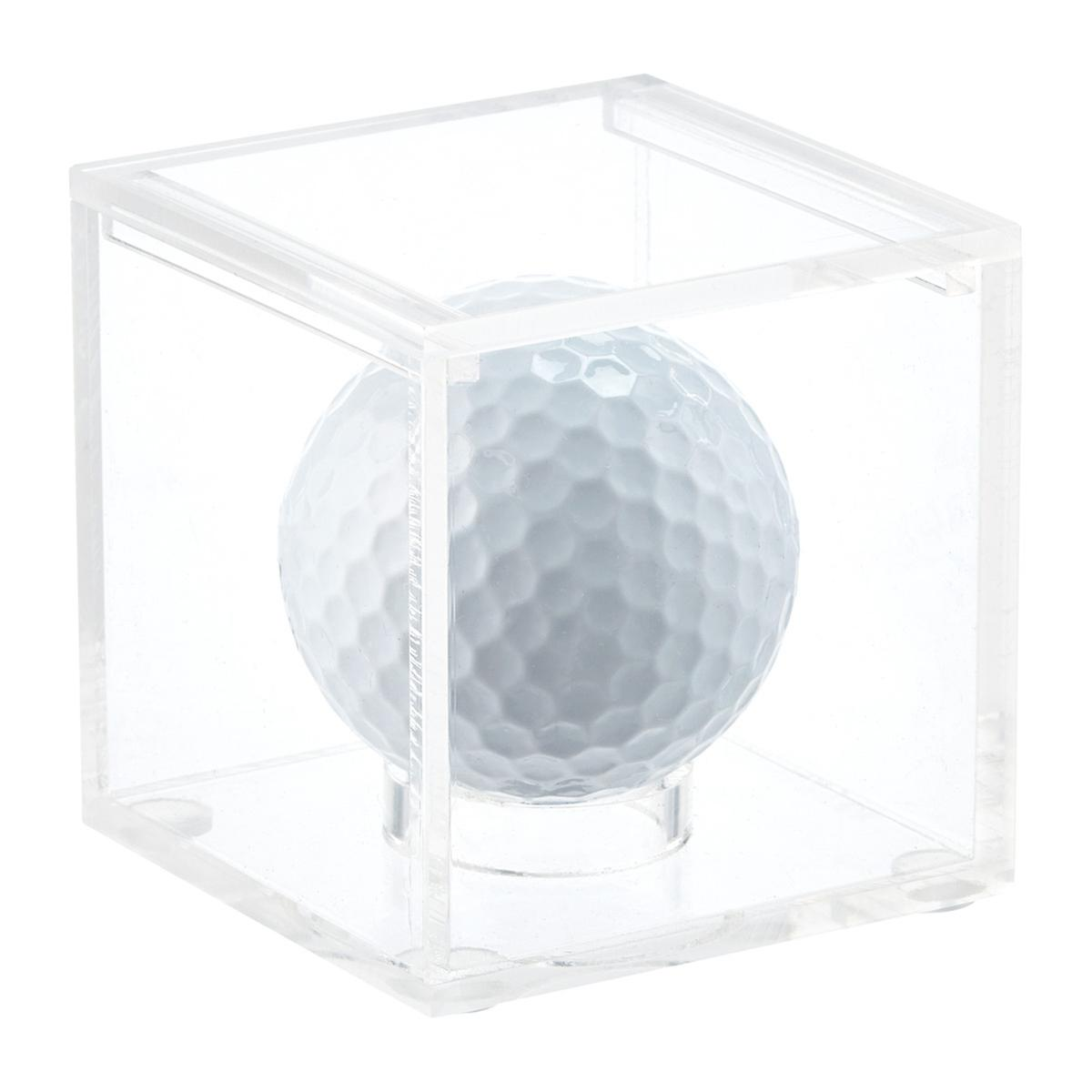 acrylic golf ball display cube the container store. Black Bedroom Furniture Sets. Home Design Ideas