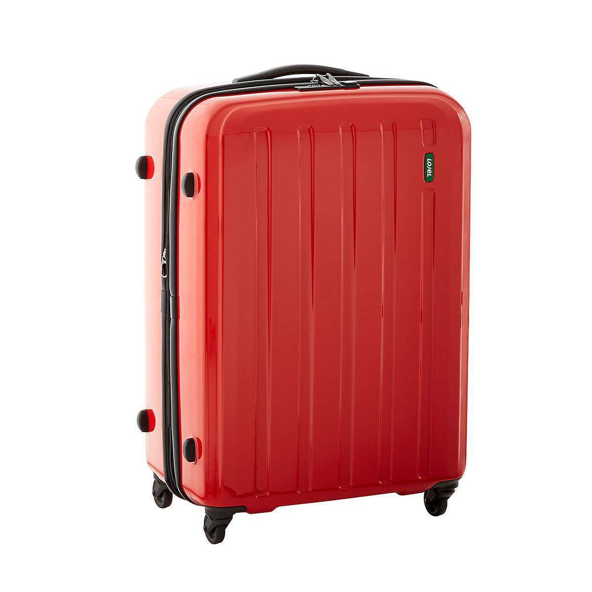 "Red 25"" Lucid 4-Wheeled Luggage"