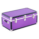 Purple Footlocker with Tray