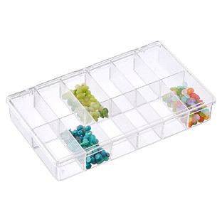 "13-1/8"" x 9"" Clear 12-Compartment Box"