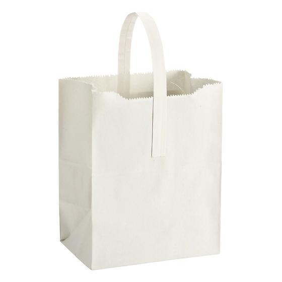 White Kraft Apple Tote
