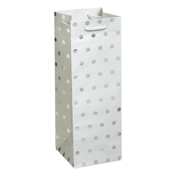 Silver Dot Bottle Tote