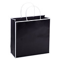 Medium Bordered Black Gift Tote