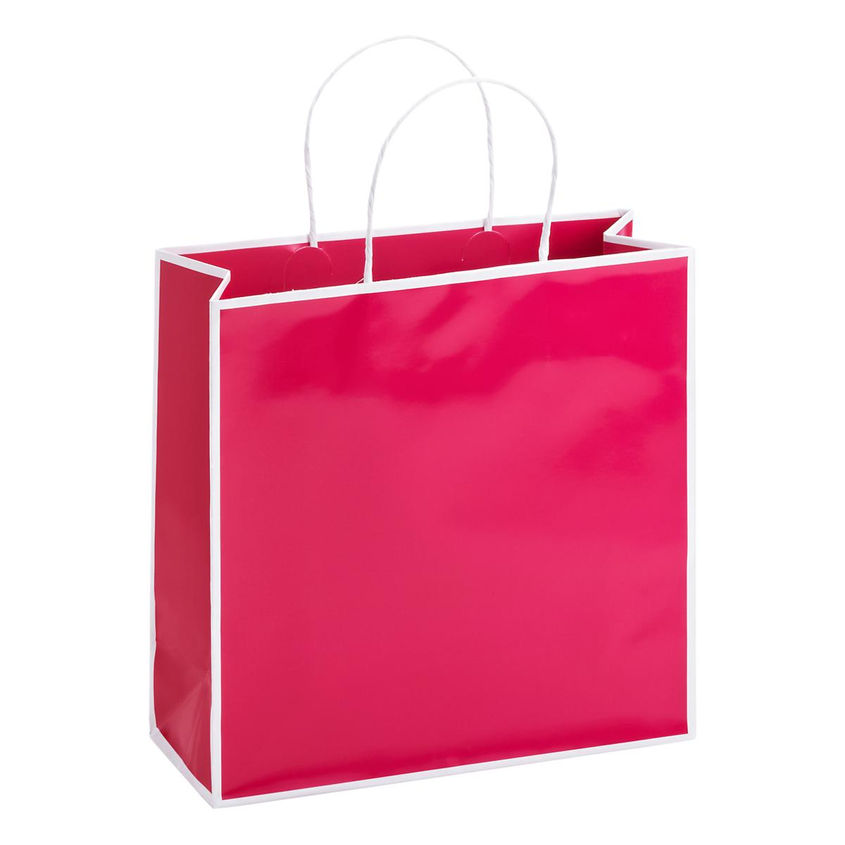 Medium Bordered Fuchsia Gift Tote