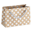 Small Silver Glitter Dots Recycled Gift Tote