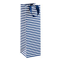 Navy Stripe Bottle Tote