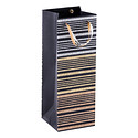 Metalloid Stripe Bottle Tote