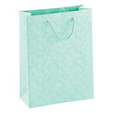 Large Mint Embossed Swirls Tote