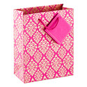 Medium Magenta & Gold Medallion Recycled Tote