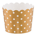 Gold Dots Small Baking Cups