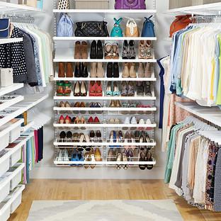 White elfa décor Walk-In Clothes Closet