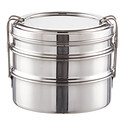 Stainless Steel Round 3-in-1 ECOlunchbox