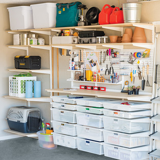 garage wall shelving the container store. Black Bedroom Furniture Sets. Home Design Ideas