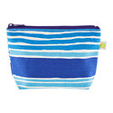 Blue Stripe Travel Pouch