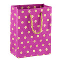 Purple and Gold Dot Recycled Small Gift Tote