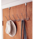 Chrome 6-Hook Overdoor Rack