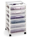 6-Case Scrapbook Cart