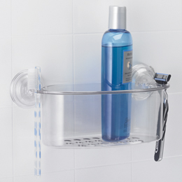 Shampoo holder for tile showers