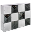 Galvanized QBO&reg; Steel Cube Wine Bar