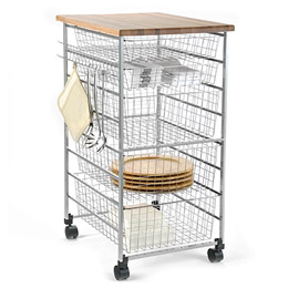 The Container Store > Platinum elfa Kitchen Cart