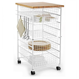 The Container Store > White elfa Kitchen Cart