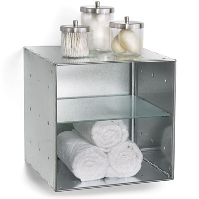 Wall Mounted Galvanized Qbo Divided Steel Cube The