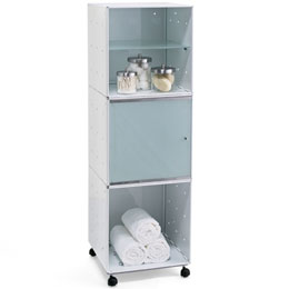 Enameled QBO® Steel Cube Storage Tower
