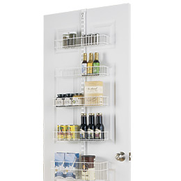 White elfa Door & Wall Rack Solution