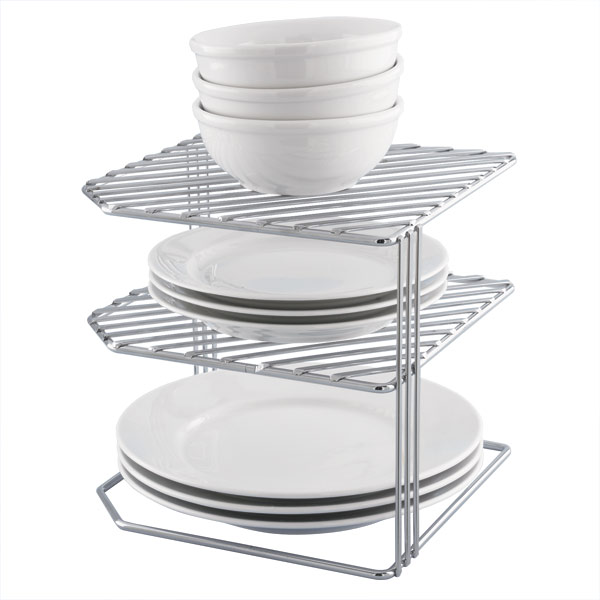 Double Chrome Corner Shelf