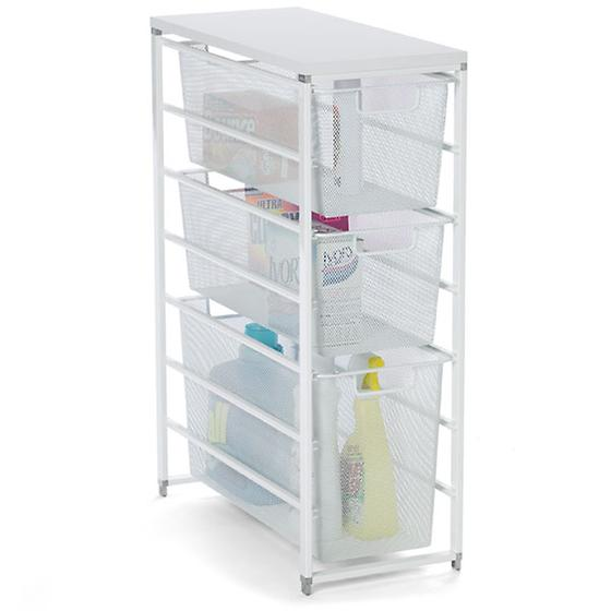 White elfa Mesh Laundry Storage