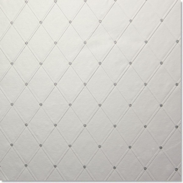 Pearl White Lattice Gift Wrap