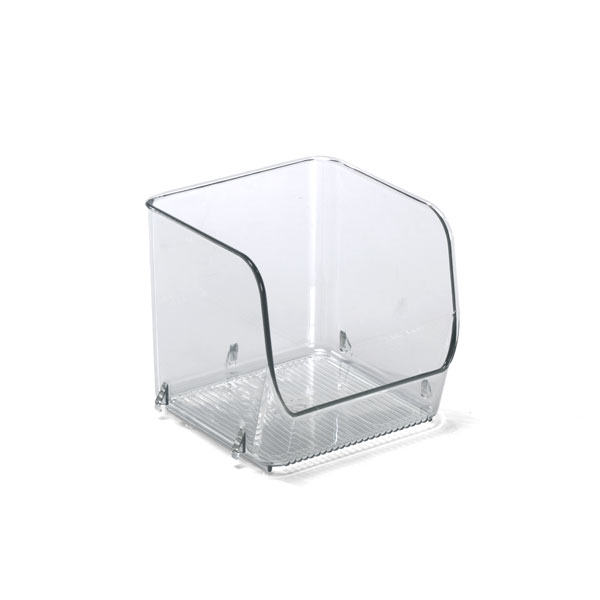 Linus Small Open Stacking Bin Clear