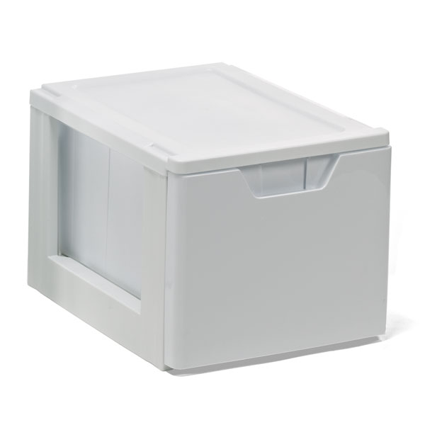 Stackable Storage & File Drawer White