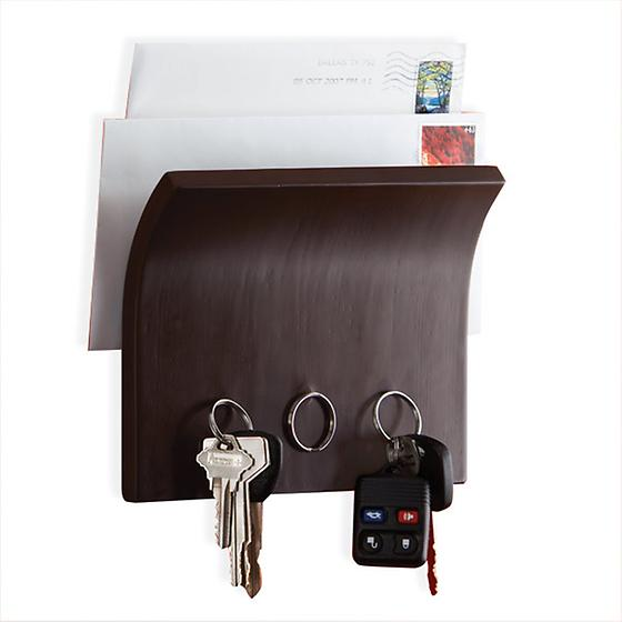 Espresso Magnetter Key and Letter Holder by Umbra