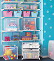 White elfa Toy Storage