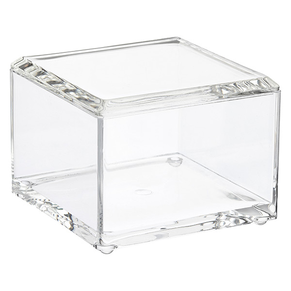 Acrylic Square Canister w/ Lid