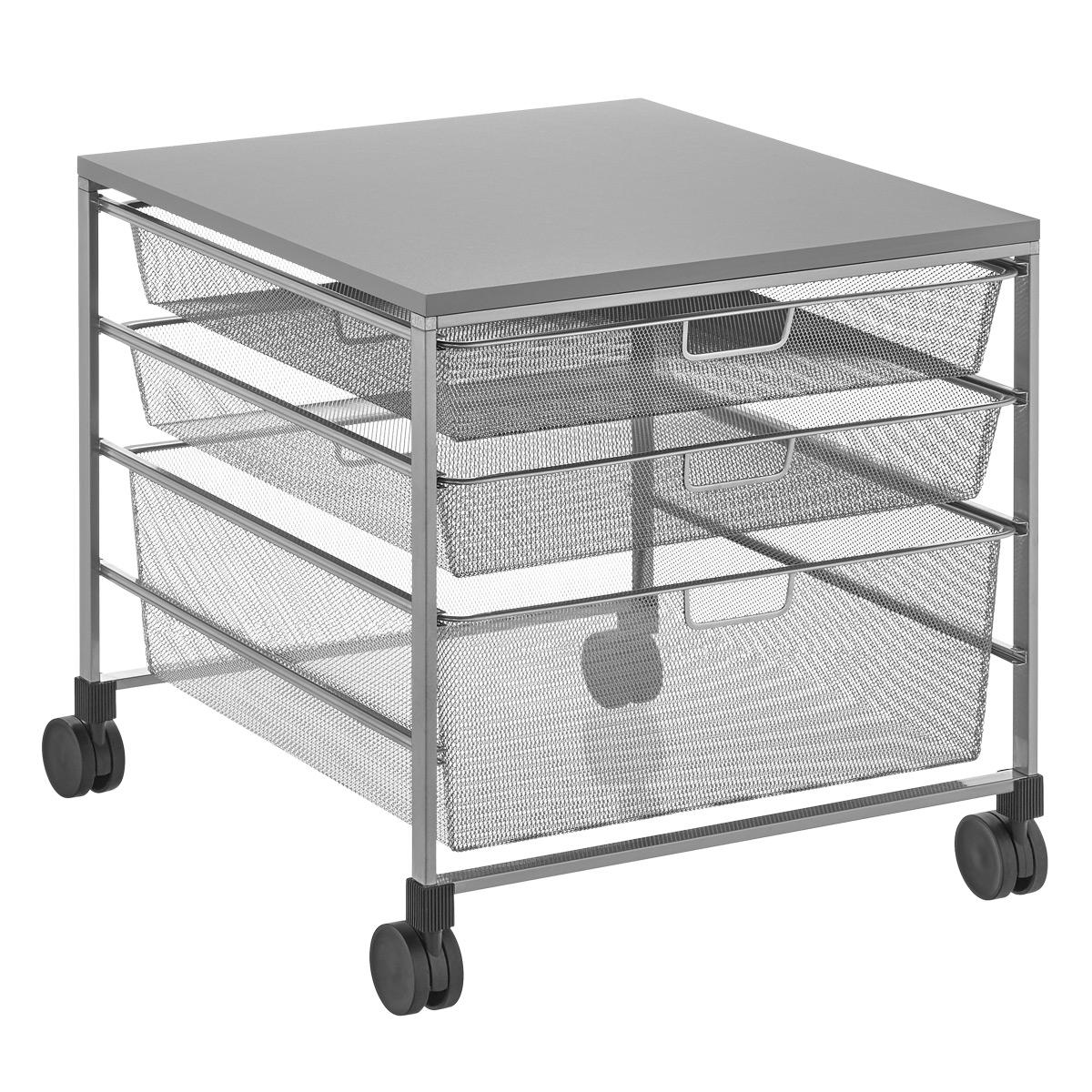 Mesh Compact Fridge Cart