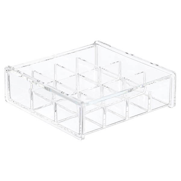 Acrylic Square Hinged-Lid Box