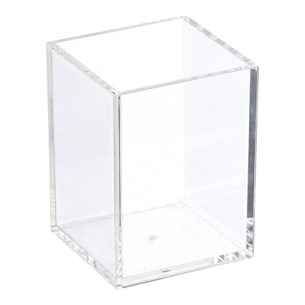 Acrylic Square Brush Holder