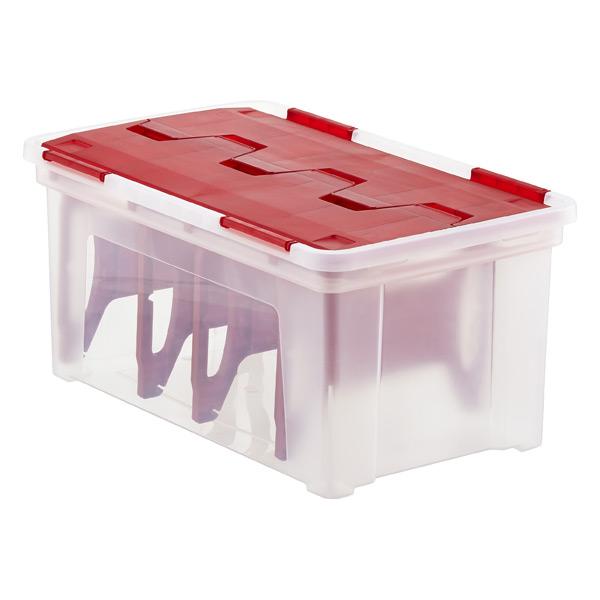 Wing-Lid Light Storage Box