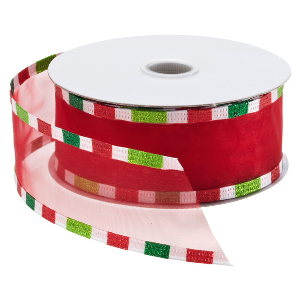 Ribbon Wired Sheer Candy Edge