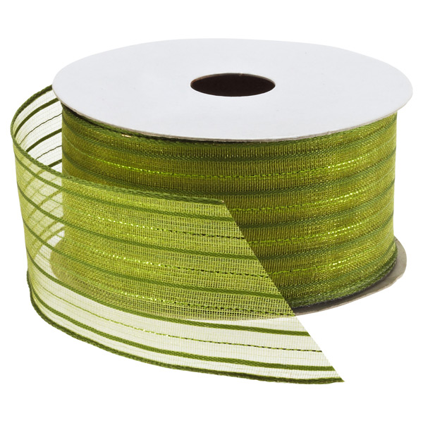 Ribbon Wired Sheer Stripes