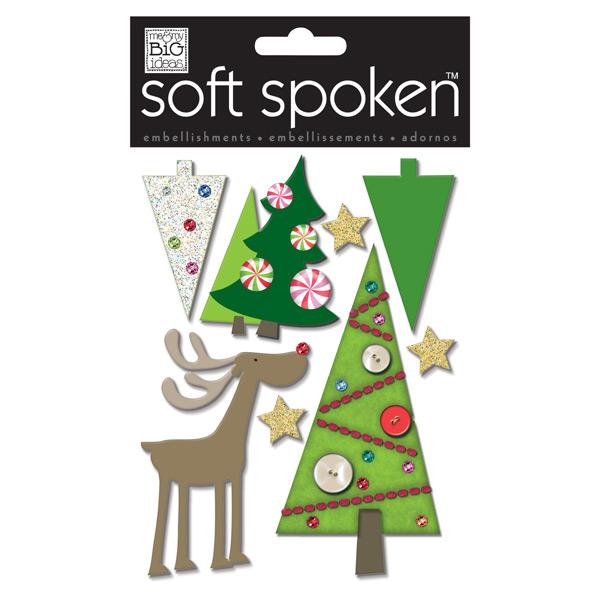 3-D Stickers Reindeer & Trees