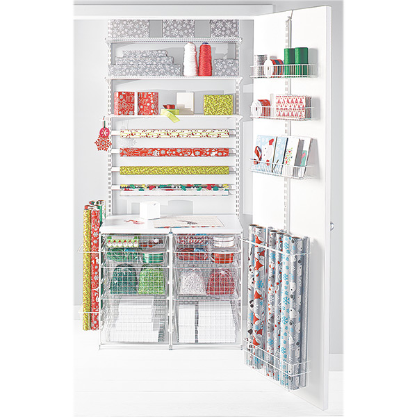 Elfa Wrap Closet is a Home Storage Solution for Gift Wrap