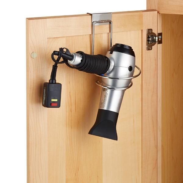 Overcabinet Hair Dryer Holder