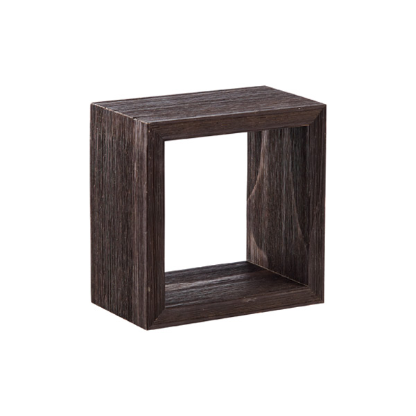 Display Cube Barnwood